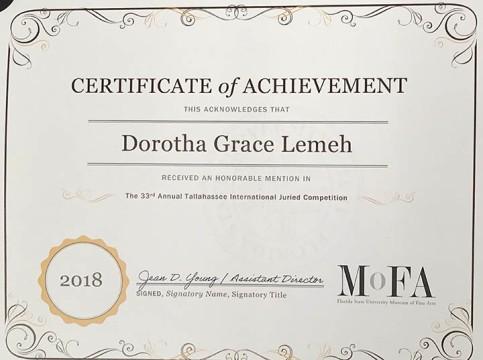DorothaGLemeh_Honorable_Mention_MoFA_2018 copy